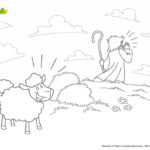 Desenhos para Pequenos Grupos de Crianças - A Ovelha Perdida